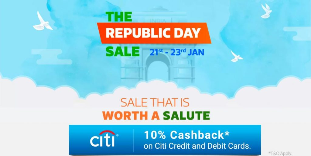 Flipkart Republic Day Sale 21st- 23rd Jan 2019: 26th January Mobile Offers + Extra CITI Bank Discount 1
