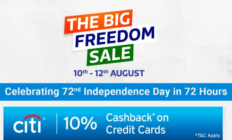 Flipkart Freedom Sale 10th-12th August 2019 : Upto 50% Off Mobile Offers + Extra 10% Cashback Via CITI Bank Credit Cards 1
