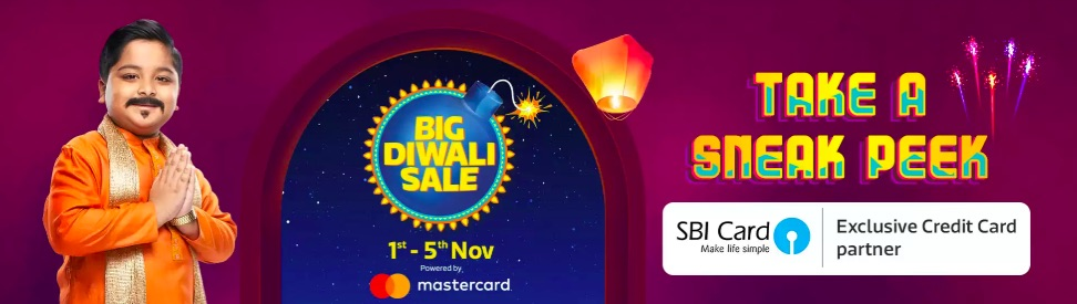 Flipkart Big Diwali Sale 1st-5th November 2019 Offers List: Upto 90% Off Mobile Deals + Extra 10% SBI Card Discount 1